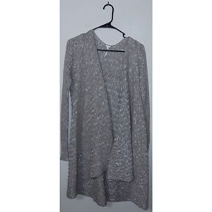 S Free People Ribbed Open Front Duster Cardigan